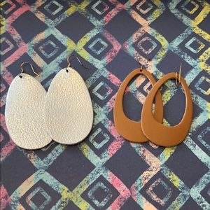 🌟2/$15🌟Two pairs leather earrings!
